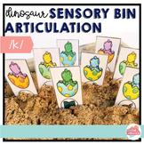 Dinosaur Sensory Bin Articulation FREEBIE-- /K/