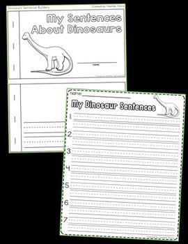 Dinosaur Sentence Builders