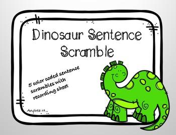 Dinosaur Sentence Scramble