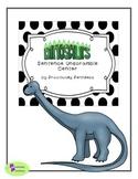 Dinosaur Sentence Unscramble