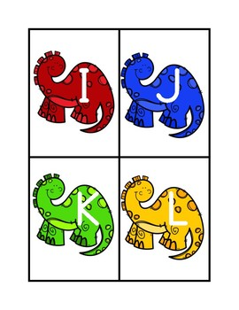Dinosaur Sequence Cards Letter and Numbers
