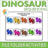 Dinosaur Sequencing File Folder Activities