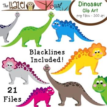 Dinosaur Set: Clip Art Graphics for Teachers