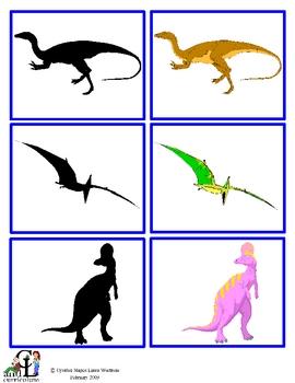 Dinosaur Shadow Match: Visual Discrimination, Matching