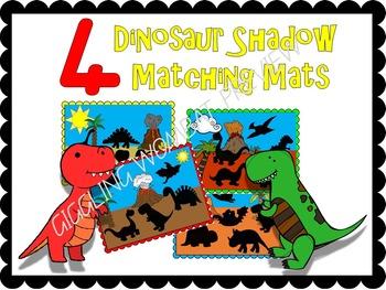 Dinosaur Shadow Matching Mats