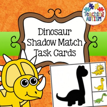 Dinosaur Shadow Matching Task Cards