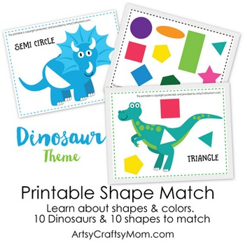 ★ Dinosaur Shape Match