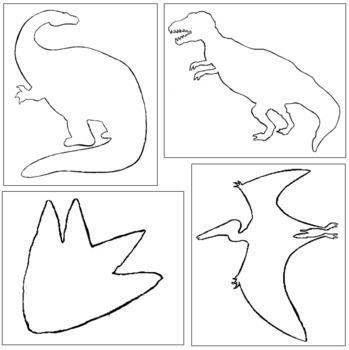 Dinosaur Shapes: Pin-Poke & Cutting