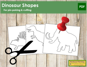 Dinosaur Shapes: Pin-Poke & Cutting