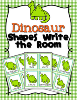 Dinosaur Shapes Write the Room
