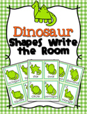 Dinosaur Shapes Write the Room