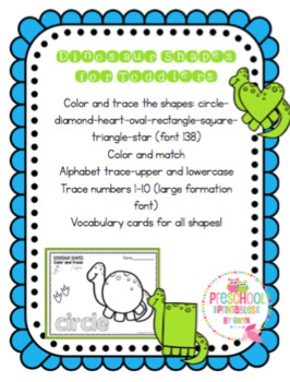 Dinosaur Shapes for Toddlers