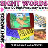 Dinosaur Sight Word Editable Game Activity for Kindergarten