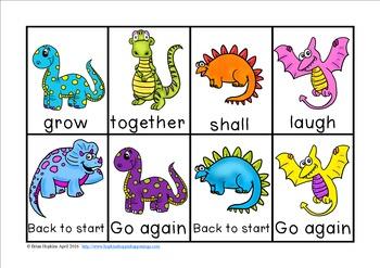 Dinosaur Sight Word Race