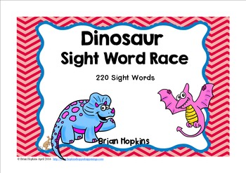 Dinosaur Sight Word Race