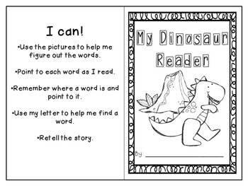 Dinosaur Sight Word Reader FREEBIE