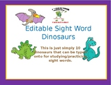 Dinosaur Sight Word Templates - 10 Templates