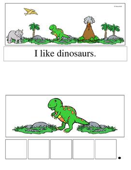 Dinosaur Sight Word Velcro Book (Adapted Book)