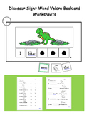 Dinosaur Sight Word Velcro Book (Adapted Book)