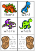 Dinosaur Sight Words