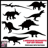Dinosaur Silhouette Clip Art - 8 Realistic Dinosaur Images