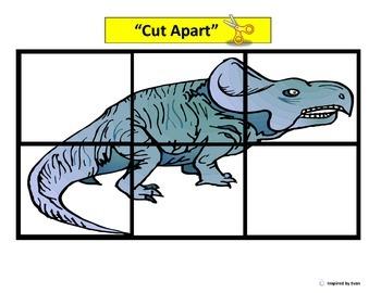 Dinosaur Simple Cut & Paste Puzzles for Autism