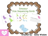 Dinosaur Size Sequencing Cards