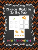 Dinosaur Big / Little Sorting Folder Game for Early Childhood Special Education