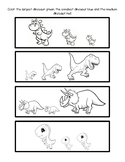 Dinosaur Sizing Coloring Activity