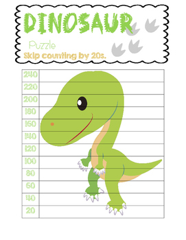 Dinosaur Skip Counting Puzzles