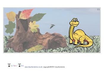 Dinosaur Small World Backdrop