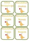 Dinosaur Snack Signs