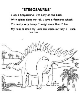 Dinosaur Songs with science facts (Lyrics only)