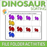 Dinosaur Sorting File Folder Activities