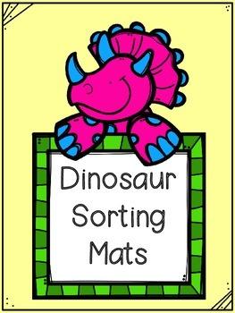 Dinosaur Sorting Mats