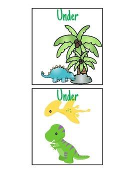 Dinosaur Spatial Concept Flashcards