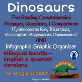 Dinosaur Species Money-Saving Bilingual Bundle for Google Slides™