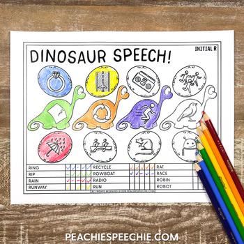 Dinosaur Speech: Articulation Drill and Data Sheets