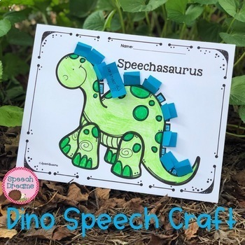 Dinosaur Speech Therapy Craft for Articulation Language or Fluency
