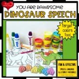 Dinosaur Speech Therapy Worksheets NO PREP