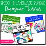 Dinosaur Themed Speech Therapy Activities BUNDLE