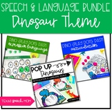Dinosaur Themed Speech Therapy Activities BUNDLE