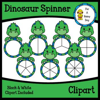 Dinosaur Spinner Clipart