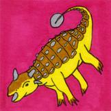 Dinosaur Sticker or Clipart Ankylosaurus