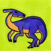 Dinosaur Sticker or Clipart Parasauroplophus