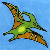 Dinosaur Sticker or Clipart Pterodactyl