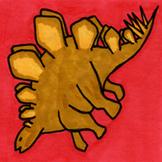 Dinosaur Sticker or Clipart Stegosaurus