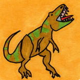 Dinosaur Sticker or Clipart T. Rex