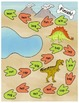 Dinosaur Stompers File Folder Game: Short Vowel Sounds