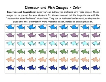 Dinosaur Subtraction 0-10 with Word Problems & CCSS aligned